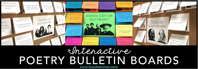 Students will love these interactive poetry-inspired bulletin boards!
