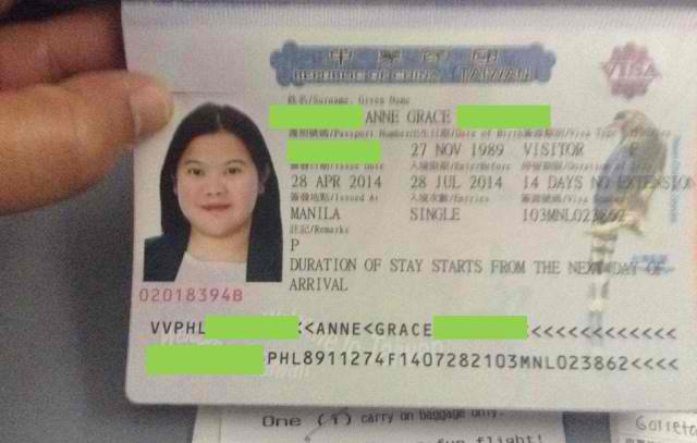 Approved Visa Taiwan Tourist Visa Application Guide for Filipinos
