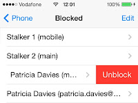 iPhone How to check if a blocked number has called !