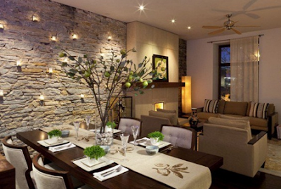 model ruang makan minimalis bernuansa romantis