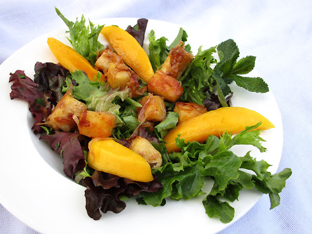 Tamarind Paneer and Mango Salad with Ginger Lime Dressing