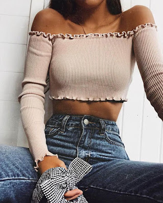 outfit casual crop tops juvenil