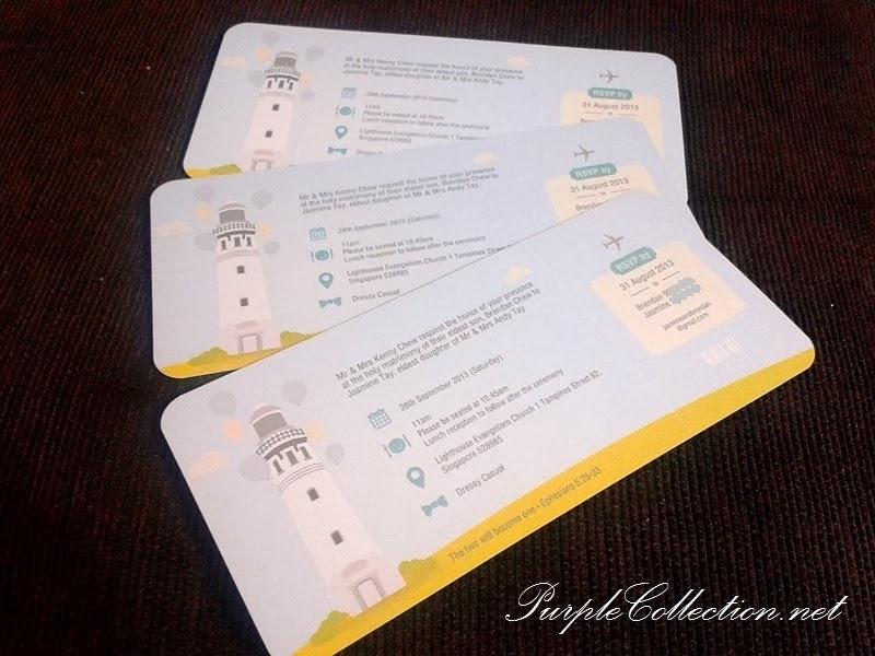 boarding pass, wedding invitation, cartoon, couple, kawaii, cute, unique, special, church, tea ceremony, chinese, western, indian, malay, kad kahwin, Tampines, Singapore, Malaysia, JB, Johor Bahru, Kuala lumpur