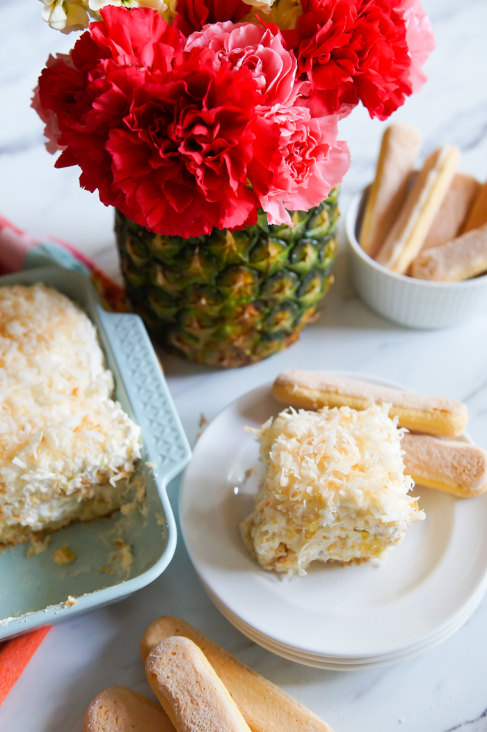 Pineapple Cream Tiramisu : tiramisu with a tropical twist ♥ bakeat350.net for Imperial Sugar