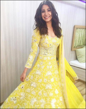 Anushka Sharma Yellow Dress