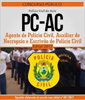 Apostila Polícia Civil do Acre - Escrivão de Polícia - Concurso PC/AC 2017.