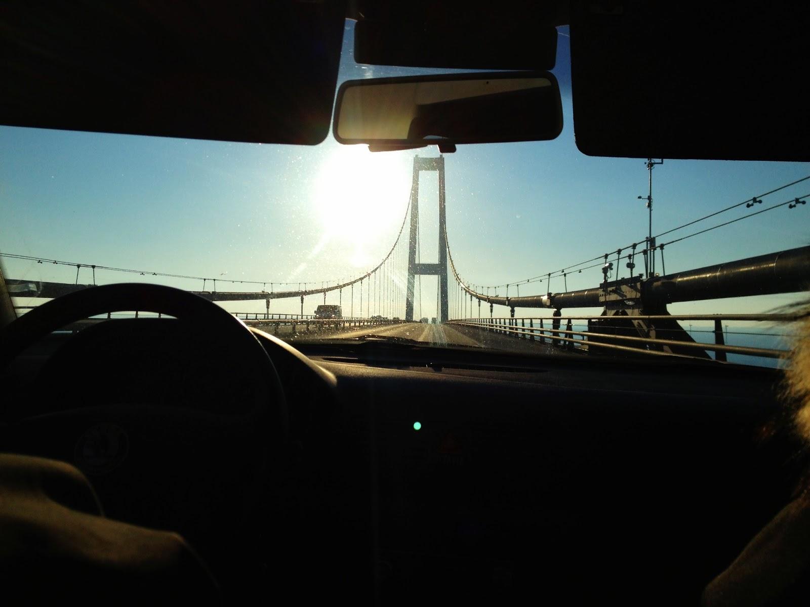 Storebælt, Storebæltsbroen, bil, udsigt, vand, bro, fyn, sjælland, jylland, danmark