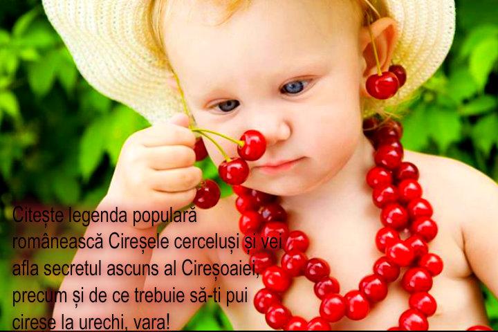 legenda populară românească despre cireșe și Cireșoaia