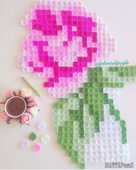Manta-crochet-pixel-art