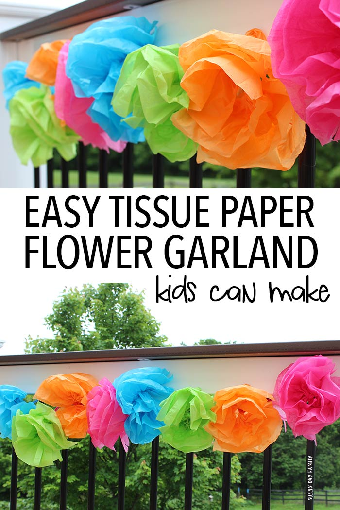 Easy tissue paper flower garland kids can make sunny day family easy tissue paper flower garland kids can make mightylinksfo