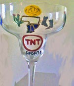 hand painted margarita glass