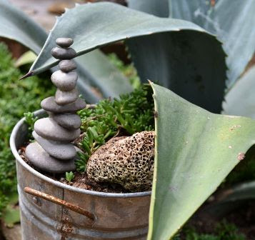 1 diy pot stones tower