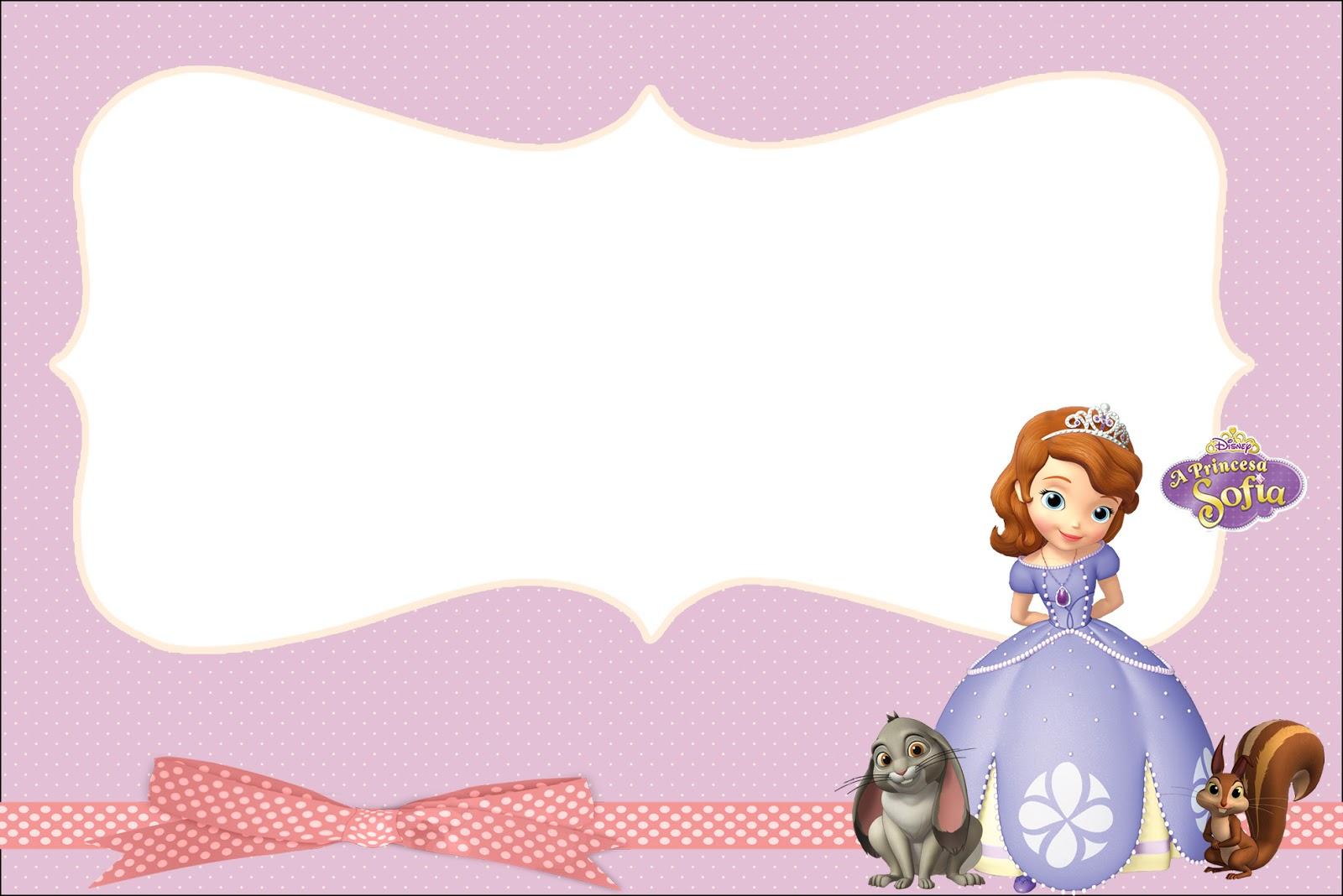 Princesa Sofía Invitaciones Para Imprimir Gratis E Imágenes