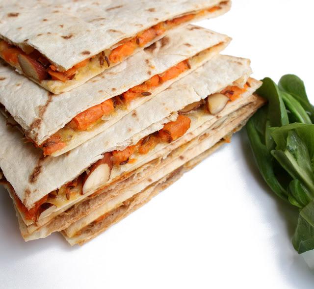 Oppskrift Søtpotet Quesadilla Mandler Kjøttfri Texmex Meksikansk Mat