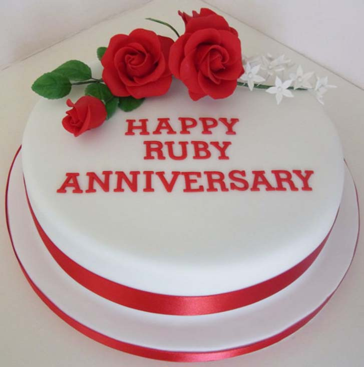 Picture Of Wedding Cake Anniversary