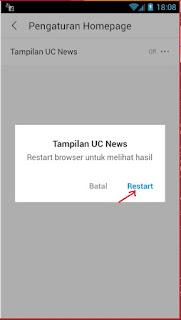 Menonaktifkan Fitur UC News di Homepage UC Browser Android