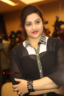 Tamil Actress Meena Latest Stills in Black Dress at TSR TV9 Awards Press Meet  0066.JPG