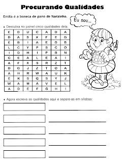 ATIVIDADES DE PORTUGUÊS PARA 3° ANO GRAMÁTICA INFANTIL