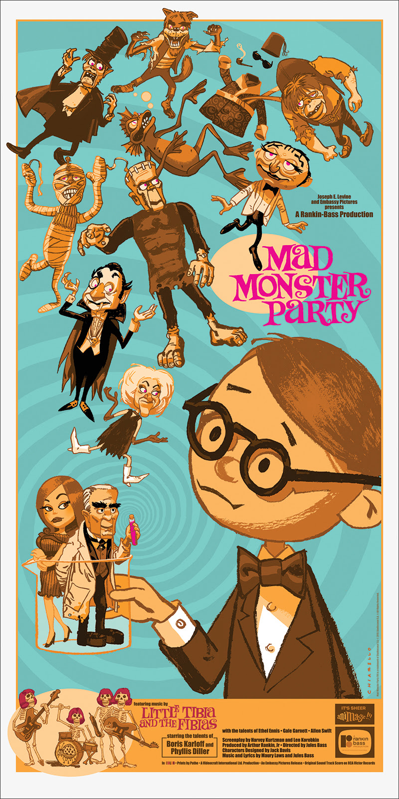 2840a9b40e9f The Blot Says...  Mad Monster Party Screen Print by Mark Chiarello ...