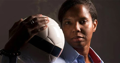 Briana Scurry, first Black woman soccer player to be inducted into the Hall of Fame