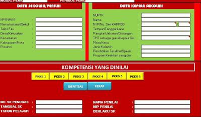 Aplikasi Penilaian Kepala Sekolah Tahun 2018, Form KS Terbaru, https://gurujumi.blogspot.com/