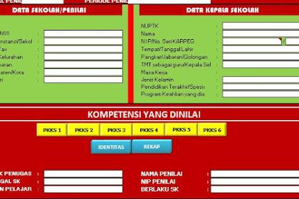 Download Aplikasi Penilaian Kepala Sekolah Tahun 2019 Form KS Terbaru