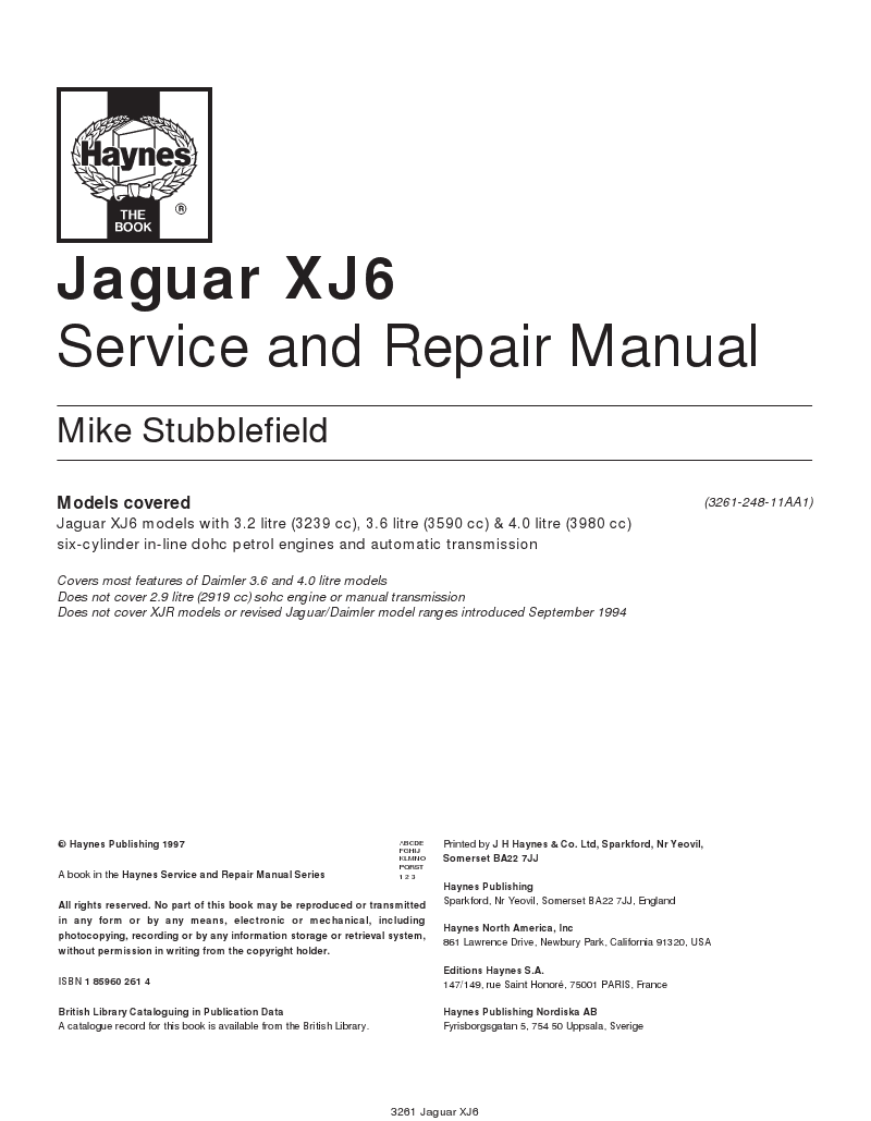 Jaguar Xj6 Repair Manual 1987 Wiring Diagram Freeownersmanual Free Service And Rh Blogspot Com Xj8