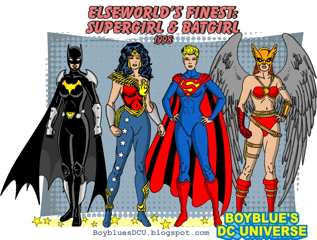 Justice Society from Elseworld's Finest Supergirl & Batgirl