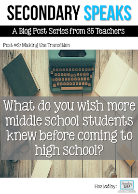 Secondary Speaks is at it again, this time discussing what they wish more middle school students knew before coming to high school. The topics range from organization to skills to encouragement and a few other things in between. Click through to read the advice of many secondary teachers!