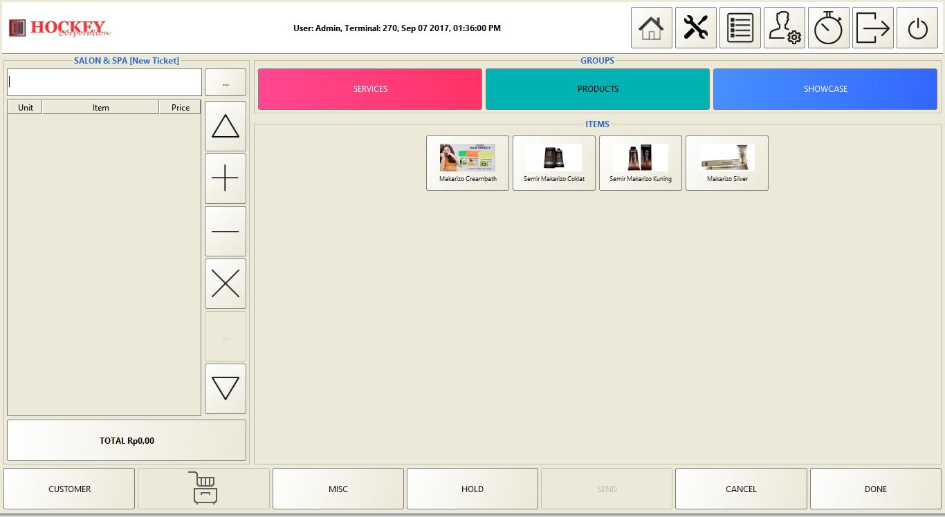 Software program aplikasi salon spa mesin kasir online