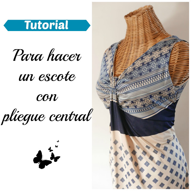 Tutorial vestido pliegue central