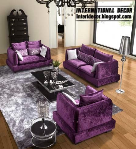 lovely purple leather living room furniture set | Luxury purple furniture, sets, sofas, chairs for living ...