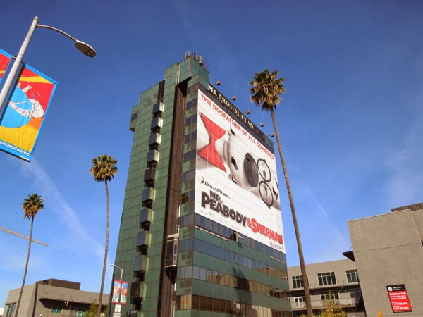 Giant Mr Peabody Sherman movie billboard