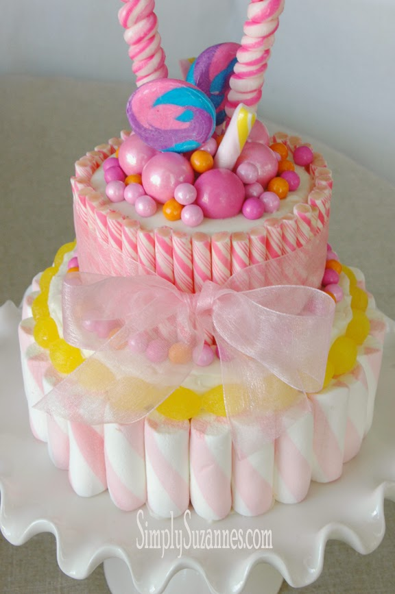 Simply Suzanne S At Home A Pink Candy Cake