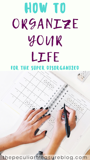 Lady using a planner to organize her life