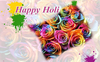 Happy holi flowers wallpapers