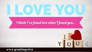 I Think I've found love when I found you