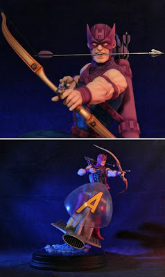 Hawkeye on Sky-Cycle Avengers Statue by Gentle Giant