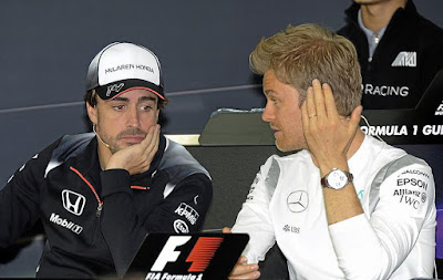 Fernando Alonso and Nico Rosberg