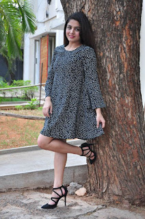 Actress Wamiqa Gabbi Stills in Short Dress at Nannu Vadili Neevu Polevule Pressmeet  0034