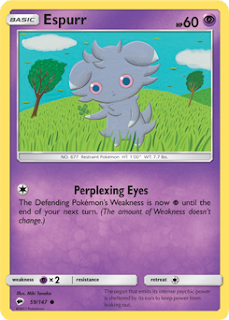 Espurr Burning Shadows Pokemon Card