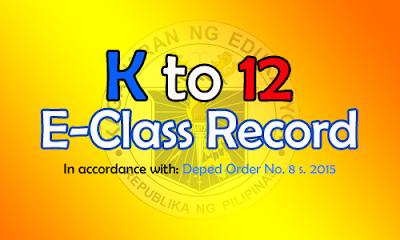 K to 12 E-Class Record