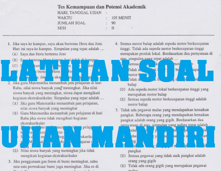 Kumpulan Soal Ujian Berdikari Universitas Negeri Makassar Unm Tahun 2019 2020 Sch Paperplane