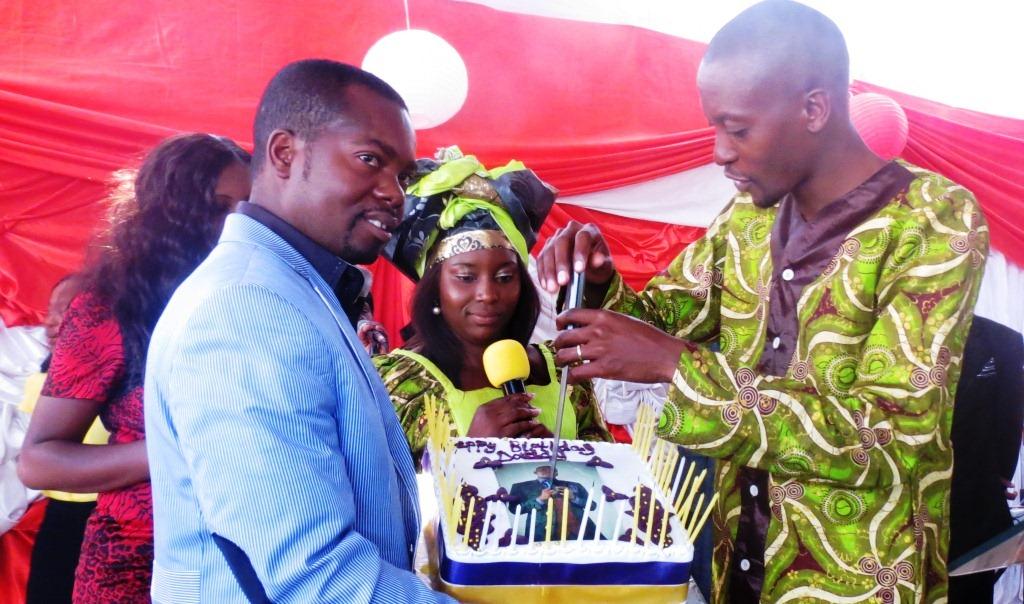 Apostle Pride Sibiya celebrating his birthday.