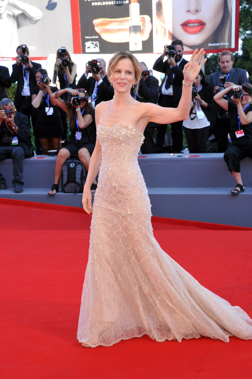 HD Photos of Sonia Bergamasco at La La Land Premiere at 2016 73rd Venice Film Festival