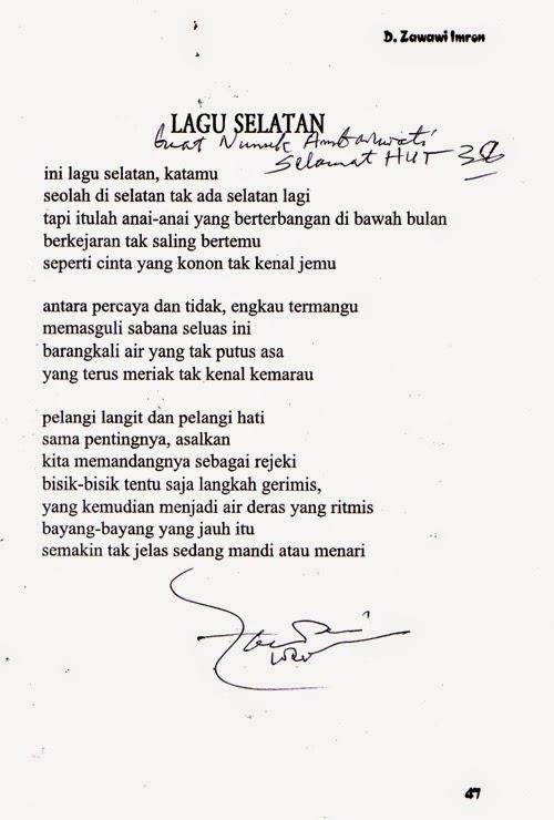D Zawawi Imron Puisi Cinta