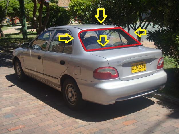 Hyundai Accent 1998 2003 Back Glass Rubber Gasket Car