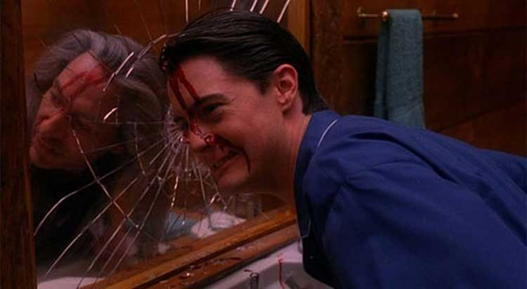 Agent Dale Cooper (Kyle Maclachlan) is overtaken by Bob in the Twin Peaks finale.