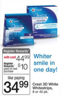 Excludes Whitestrips with Light, Noticeably White and trial/travel size. Limit ONE coupon per purchase of products and quantities stated. You may pay sales tax. Not valid in Puerto Rico. Limit of one coupon per household. Digital Coupons and paper coupons may not be combined on the purchase of a single item.
