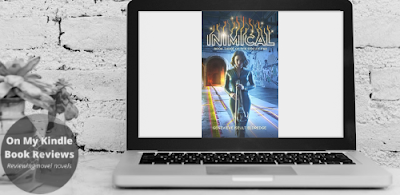 Computer display mockup of INIMICAL (CIRCUIT FAE BOOK 3) by Genevieve Iseult Eldredge